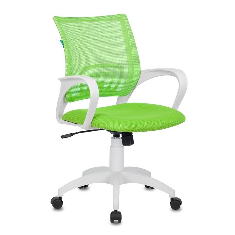 Кресло Бюрократ CH-W695N сетка/ткань (пластик белый)